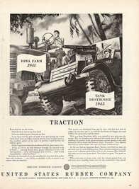 1945 United States Rubber Company - unframed vintage ad