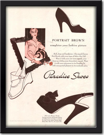 1949 Paradise Shoes framed preview