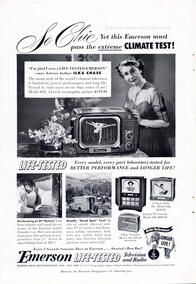 1951 Emerson Television and Radio - unframed vintage ad