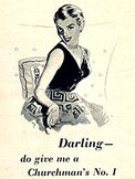 1953 ​Churchman's No. 1 - vintage ad
