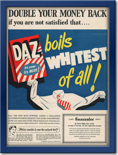 1954 Daz Washing Powder - framed preview retro