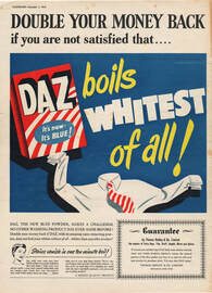 1954 Daz Washing Powder - unframed vintage ad