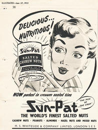 1953 Sun-Pat Salted Cashew Nuts - vintage magazine ad