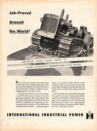 1954 International Harvest unframed vintage ad