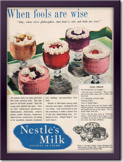 1954 Nestles Milk - framed preview retro