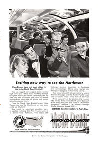 1954 Northern Pacific Railroad - unframed vintage ad