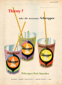 1954 Schweppes Squashes - unframed vintage ad