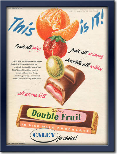1955 Caley Double Fruit Bar - framed preview retro