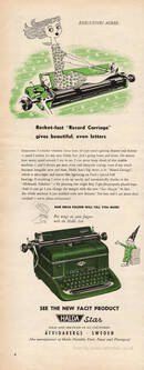 1955 Halda Star Typewriters - unframed vintage ad