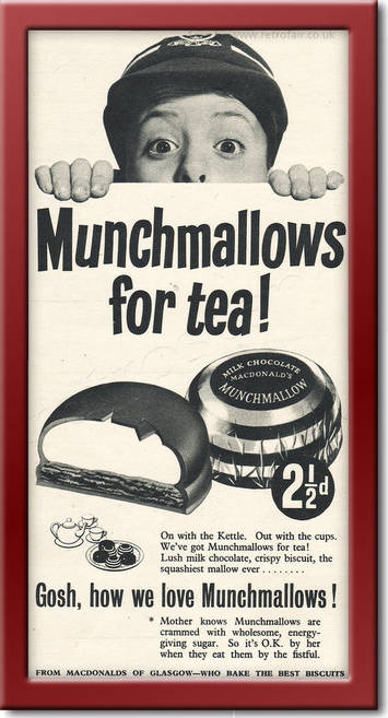 1955 Munchmallows - framed preview vintage ad