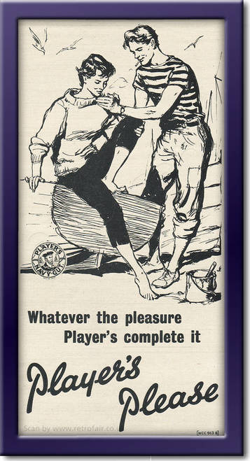 1955 Player's Cigarettes - framed preview