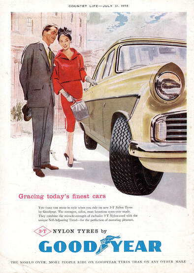 1958 Goodyear Tyres - framed preview retro