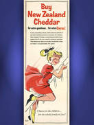 1958 New Zealand Cheddar Vintage ad