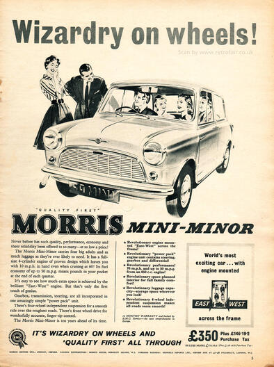 1959 Morris Mini - Minor - unframed vintage ad