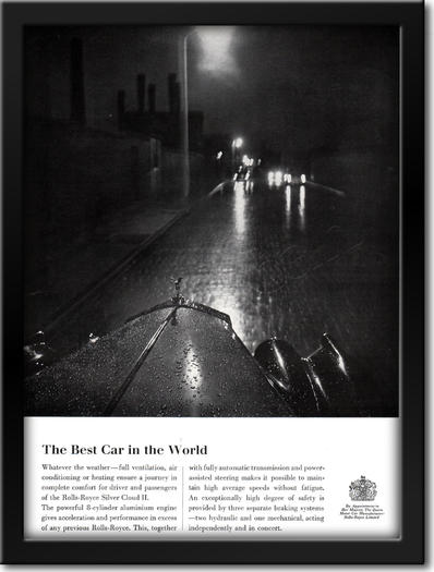 1960 Rolls Royce framed preview vintage ad