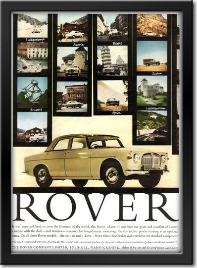 1961 Rover - framed preview vintage ad