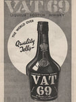 1936 VAT 69 Scotch Whisky - vintage ad