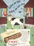 1954 Caley Dari-Rich Milk Chocolates Cow Sheds - retro ad
