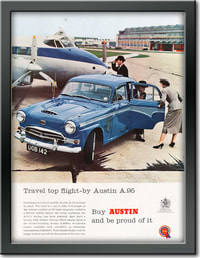1958 Austin A95 - framed preview retro