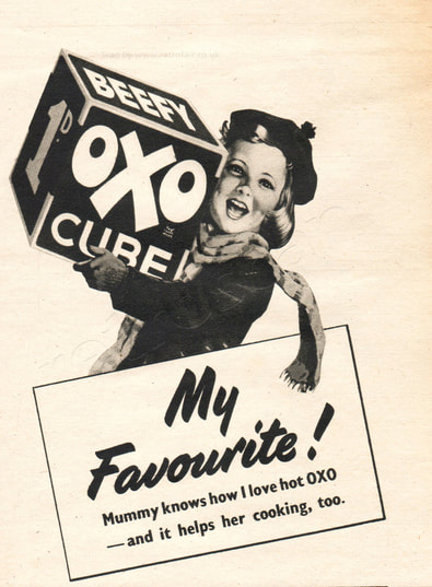 1952 OXO Beef Cubes - vintage magazine ad