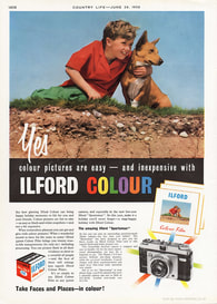 1958 Ilford - unframed vintage ad