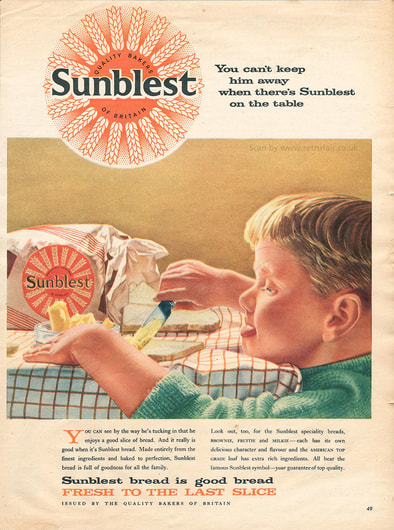 1958 Sunblest Bread - framed preview retro