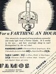1936 Famos Lamps - vintage ad