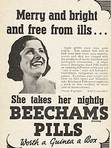 1937 Beechams Pills vintage ad