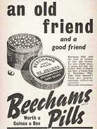 1940 Beechams Pills Vintage ad