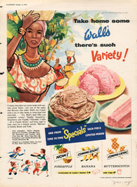 1954 Wall's Ice Cream - unframed vintage ad