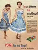 1954 Persil Washing Powder - Fabrics  - vintage
