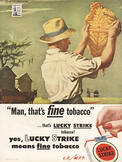 1944 ​Lucky Strike Cigarettes  - vintage ad