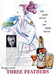 1949 Three Feathers Whiskey - vintage ad