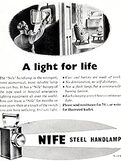 1950 Nife Lamps - vintage ad
