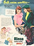 1950 Rinso Washing Powder Vintage Ad