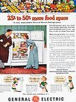 1951 GEC Food Freezer - Color Vintage Ad