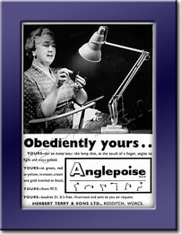 1958 Anglepoise Lamps - framed preview vintage ad