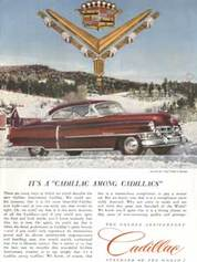 1952 Golden Anniversary Cadillac Vintage Ad