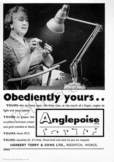1958 Anglepoise Lamps - unframed vintage ad