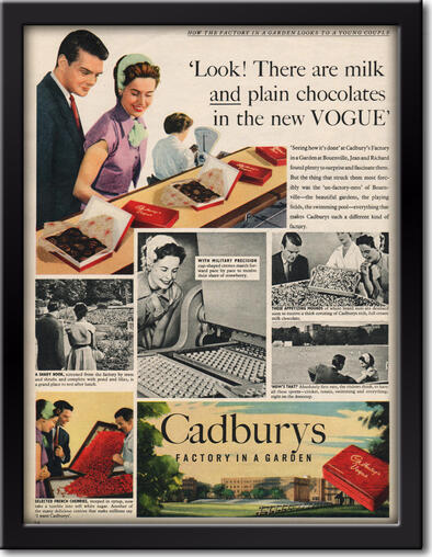 1953 Cadbury's Vogue - unframed vintage ad
