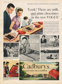 1953 Cadbury's Vogue - framed preview retro