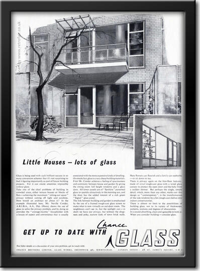 vintage 1953 Chance Glass ad