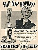 1953 Seagers Egg Flip vintage ad
