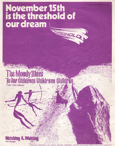 1969 Moody Blues  - unframed vintage ad