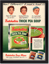 1954 Batchelor's Thick Pea Soup - framed preview retro