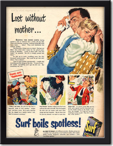 1954 Surf Detergent vintage advert