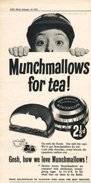 1955 Munchmallows - unframed vintage ad