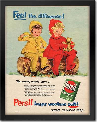 1955 Persil Washing Powder Children vintage ad