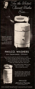 Philco Washing Machines vintage ad