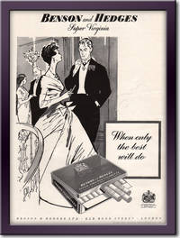 1958 Benson and Hedges Cigarettes - framed preview retro
